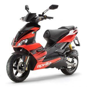 aprilia sr 50 fluo red scooter