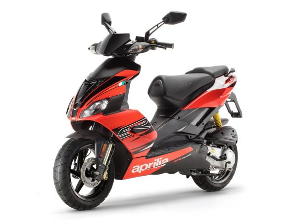 aprilia sr 50 fluo red scooter